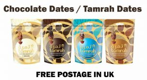 Chocolate Dates from Tamrah Dates ( Coconut / Caramet & Dark ) Ramadan Islamic